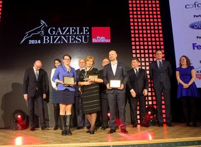 Gazele Biznesu 2014 - nagrody